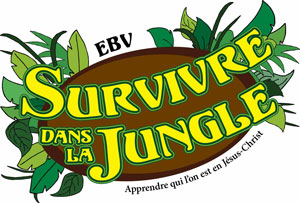 Logo Surviving the Jungle VBS French