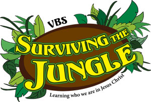 Logo Surviving the Jungle VBS English